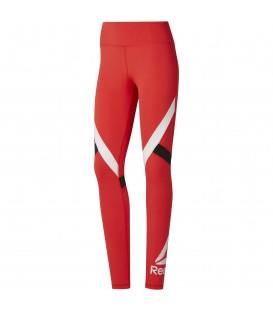Comprar mallas de fitness para mujer Reebok Wor Big Delta de color rojo DU4726 al mejor precio en chemasport.es