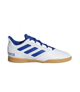 Comprar zapatillas de fútbol sala para niños adidas Predator 19.4 IN J CM8553 de color blanco al mejor precio en tu tienda de deportes online chemasport.es