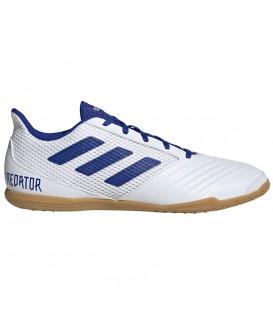 Comprar zapatillas de fútbol sala para hombre adidas Predator 19.4 IN D97974 de color blanco y azul al mejor precio en chemasport.es