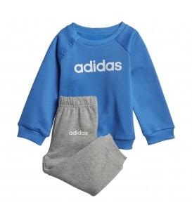 Comprar chándal para niños adidas Linear Fleece DV1265 gris y azul al mejor precio en tu tienda de deportes chemasport.es