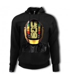 Comprar sudadera con capucha para hombre Leg3nd Daft Punk Gold con imagen de Daft Punk en la parte frontal.
