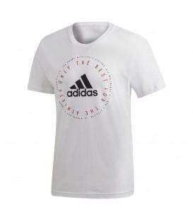 Comprar camiseta adidas MH Emblet T DV3100 de color blanco al mejor precio en tu tienda de deportes online chemasport.es