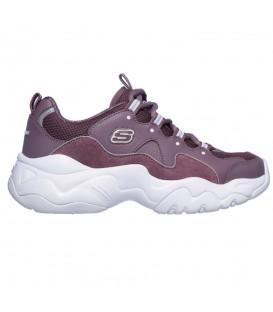 Comprar deportivas para mujer Skechers D'Lites 3 - Zenway de color rosa con plataforma al mejor precio en chemasport.es
