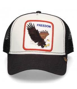 Gorra unisex de animales Goorin Bros Freedom 101-0209-WHI con dibujo de águila de color blanco al mejor precio en chemasport.es