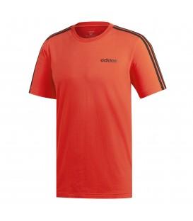 Comprar camiseta para hombre adidas essentials 3 bandas DU0444 de color rojo al mejor precio en tu tienda de deportes online chemasport.es
