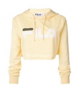 Comprar sudadera para mujer Fila Noemi 684450 de color amarillo al mejor precio en chemasport.es