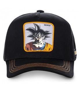 Gorra unisex Capslab con imagen de Son Goku de Dragon Ball en la parte delantera de color negra al mejor precio en chemasport.es