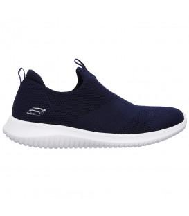 Comprar deportivas para mujer Skechers Ultra Flex First Take 12837-NVY de color azul marino al mejor precio en chemasport.es