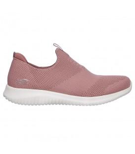 Comprar deportivas Skechers Ultra Tech - First Time 12837-MVE de color rosa al mejor precio en chemasport.es