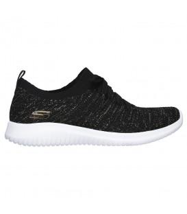 Comprar zapatillas para mujer Skechers Ultra Flex 12843-BKGD de color negro al mejor precio en tu tienda de deportes online chemasport.es