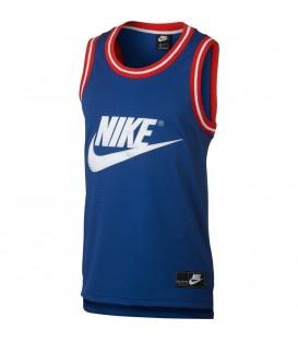 Comprar camiseta de basket Nike Sportswear basket AR9892-438 de color azul al mejor precio en tu tienda de baloncesto en chemasport.es