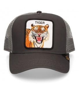 Comprar gorra unisex ajustable Goorin Bros Eye of the Tiger 101-0335-GRY con dibujo de tigre en la parte frontal al mejor precio en chemasport.es
