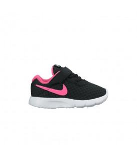 Comprar deportivas para niños con velcro al mejor precio Nike Tanjun TDV 818386-061 de color negro y rosa al mejor precio en chemasport.es