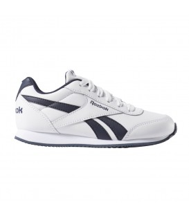 Comprar deportivas para niños Reebok Royal Classic Jogger 2.0 CN4930 de color blanco y azul marino al mejor precio en chemasport.es