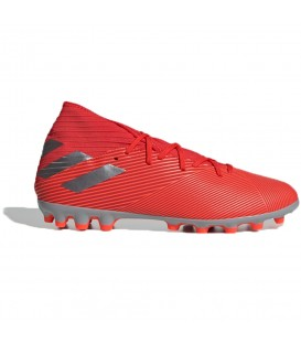 Botas de fútbol para hombre adidas Nemeziz 19.3 AG F99994 de color rojo al mejor precio en tu tienda de fútbol online chemasport.es