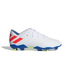 Comprar botas de fútbol para niños adidas Nemeziz Messi 19.3 FG F99933 de color blanco al mejor precio en chemasport.es