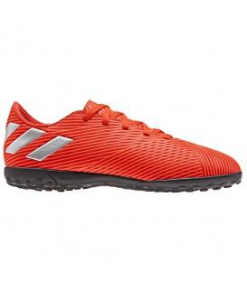 Comprar botas de fútbol para niños adidas Nemeziz 19.4 TF J F99935 de color rojo al mejor precio en chemasport.es