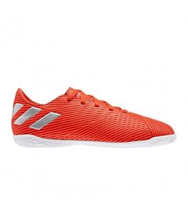 Comprar zapatillas de fútbol sala para niños de Leo Messi adidas Nemeziz 19.4 In Junior F99938 de color rojo al mejor precio en chemasport.es