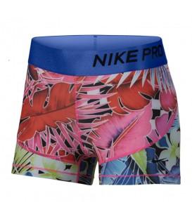 Comprar pantalón corto de entrenamiento para mujer Nike Pro estampado tropical AR6923-686. Otros modelos de shorts deportivos en chemasport.es