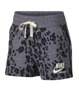Pantalón corto para mujer con estampado de leopardo Nike Sportswear Gym Vintage AR9807-010 de color gris al mejor precio en chemasport.es