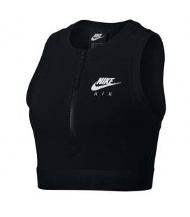 Top para mujer Nike Air AR3441-010 de color negro con cremallera al mejor precio en tu tienda de deportes online chemasport.es