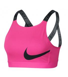 Top deportivo para mujer Nike Classic Logo BQ4808-686 de color rosa con la espalda cruzada al mejor precio en chemasport.es