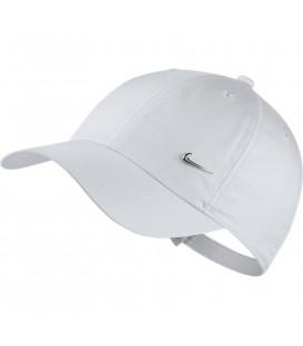 Gorra unisex al mejor precio Nike Sportwear Heritage86 Cap AV8055-100 de color blanco al mejor precio en chemasport.es