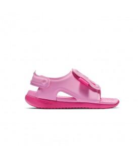 Chanclas para niños Nike Sunray Adjust 5 de color rosa con velcro al mejor precio en chemasport.es