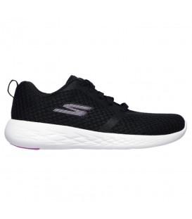 Comprar deportivas para mujer Skechers Go Run 15098 BKPK de color negro y rosa al mejor precio en tu tienda chemasport.es