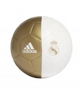 Balón de fútbol adidas Real Madrid CPT DY2524 de color blanco y dorado al mejor precio en chemasport.es