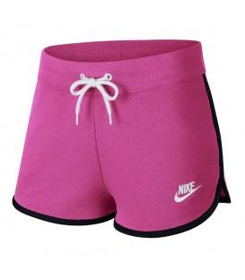 Pantalón corto para mujer Nike Sportswear Fleece AR2414-623 de color rosa al mejor precio en chemasport.es