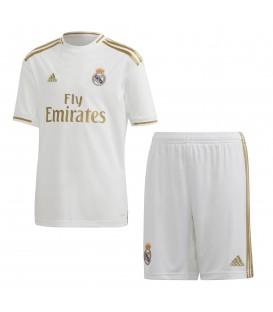 Conjunto de fútbol para niños adidas Real Madrid primera equipación DX8841 blanco y dorado al mejor precio en chemasport.es