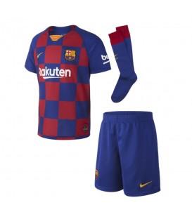 Conjunto de fútbol para niños Primera equipación del FC Barcelona 2019/20 con camiseta del Barsa al mejor precio en chemasport.es