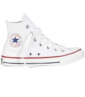 Zapatillas para mujer Converse All Star HI Basico M7650C de color blanco al mejor precio en tu tienda de sneakers en Pontevedra chemasport.es