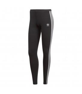 Mallas para mujer adidas 3 bandas CE2441 de color negro con bandas blancas al mejor precio en tu tienda de deportes online chemasport.es
