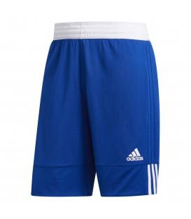 Pantalón corto de baloncesto reversible 3G Speed DY6601 de color azul y blanco al mejor precio en chemasport.es