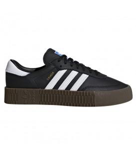 Comprar deportivas para mujer adidas sambarose W B28156 de color negro con plataforma al mejor precio en chemasport.es