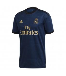 Comprar la camiseta de la segunda equipación del Real Madrid para la temporada 2019/20. Camiseta Real Madrid adidas FJ3151 de color azul marino.