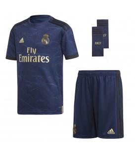Comprar conjunto para niños adidas segunda equipación Real Madrid para la temporada 2019/20 al mejor precio en tu tienda de fútbol online barata