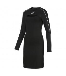Comprar vestido ajustado para mujer Puma Classic Dress de color negro al mejor precio en tu tienda de moda online chemasport.es
