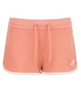 Comprar pantalón corto de running para mujer Nike Heritage Mesh de color rosa al mejor precio en tu tienda de deportes online chemasport.es