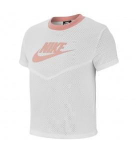 Comprar camiseta de entrenamiento Nike Sportswear Heritage BV4831-100 de color blanco y rosa al mejor precio en chemasport.es