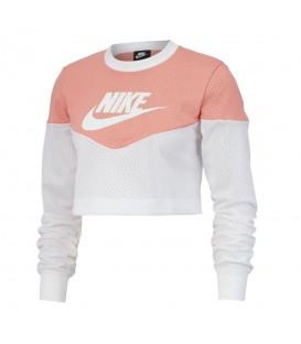 Comprar sudadera para mujer Nike Sportwear Heritage BV4952-606 de color rosa al mejor precio en tu tienda de deportes online barata chemasport.es