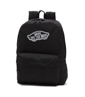Mochila unisex para hombre y mujer Vans WM Realm Backpack de color negro con detalles blancos al mejor precio en chemasport.es