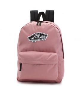 Comprar mochila para colegio Vans WM Realm Backpack de color rosa con asas ajustables al mejor precio en chemasport.es