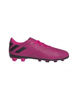 Botas de fútbol para niños adidas Nemeziz 19.4 FxG J F99949 de color violeta al mejor precio en tu tienda de fútbol online chemasport.es