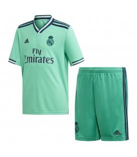 Conjunto para niños adidas tercera equipación Real Madrid 2019/20 DX8919 de color verde al mejor precio en tu tienda de deportes chemasport.es