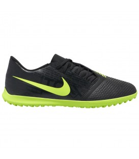 Comprar botas de fútbol para moqueta con suela Turf Nike PhantomVMN Club TF de color negro y verde al mejor precio en chemasport.es