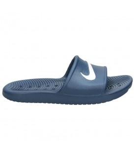 Comprar chanclas de piscina baratas de Nike. Chanclas Nike Kawa de color azul marino al mejor precio en tu tienda de deportes online chemasport.es