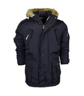 Comprar cazadora con capucha para hombre Ellesse Blizzard de color azul marino al mejor precio en tu tienda de moda en Pontevedra